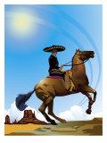 Mexican Caballero on Horseback  Grouped Elements