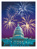 White House and Fireworks