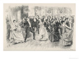 Cotillion Dancing in a Fashionable London Ballroom