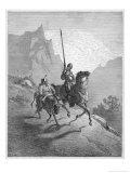 Don Quixote with Sancho Panza Riding Along a Mountain Pass