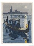Venetian Gondola by the Light of the Moon