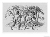 Robin Hood and the Tanner Fight with Quarterstaffs
