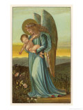 Guardian Angel Walks with a Child in Its Arms