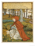 Red Riding Hood Makes a Pretty Nosegay with Wild Flowers from the Glade