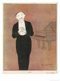 Fragson Stands in Front of His Piano Giclée premium par Leonetto Cappiello