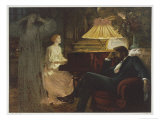 In a Reverie Induced by His Wife Playing the Piano He Hallucinates the Girl He Didn't Marry