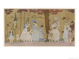 Summertime Fashions for Women and Girls by Paquin Doucet Giclée par Georges Barbier