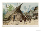 Papua New Guinea: Village Scene in the North-East of the Island