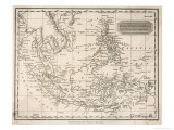 Map of the East India Islands Including the Philippines the Celebes Papua New Guinea Sumatra Giclée premium par A. Findlay