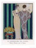 High-Waisted Clinging Gown Giclée premium par Georges Barbier