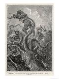 20,000 Leagues Under the Sea: The Squid Claims a Victim Giclée par Hildebrand