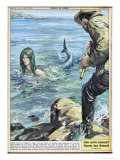 At Bocca di Magra Italy Fisherman Colmaro Orsino of Genova Sees a Mermaid