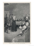 Witch Trial in Massachusetts  The Accusing Girls Point at the Victim