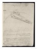 Sketch of a Design for a Flying Machine Giclée premium par Leonardo Da Vinci