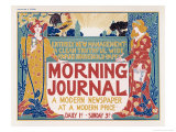 Poster for the Morning Journal New York  a Modern Newspaper at a Modern Price