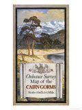 Cover Design of an Ordnance Survey Map of the Cairngorms