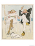Two Holidaymakers Take Things Easy in Their Beach Chairs Giclée premium par Proessdorf