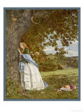 """The Talking Oak""  Illustration to the Poem by Tennyson: a Girl and a Tree Share Confidences"