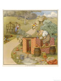 The Three Pigs Build Their Respective Houses out of Bricks Straw and Sticks