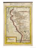 Peru, a Map Showing a Coastal Part of South America on the South Pacific Giclée premium par Alain Manesson Maller