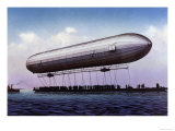The First Zeppelin  LZ1  Makes Its Maiden Flight Over the Bodensee