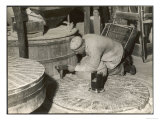 Dressing a Millstone at a Water Mill at Ewell Surrey