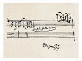 Cadenza, signé par Mozart Giclée premium