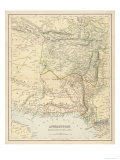 Map of Afghanistan and Beluchistan Giclée premium