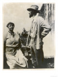 D H Lawrence English Novelist with His German Wife Frieda