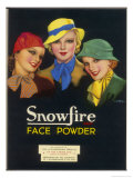 Three Girls of the Ginger Rogers Era Who Use Snowfire Face Powder