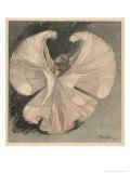 Loie Fuller (Mary Louise Fuller) American Dancer at the Folies Bergere Paris