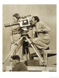 Olympische Spiele 1936 Leni Riefenstahl and One of Her Team Recording the Games