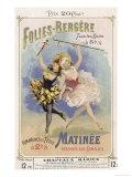 Programmes a Programme Cover for the Famous Folies Bergere Cabaret in Paris