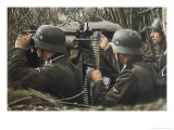 German Machine-Gun Crew Ready and Waiting