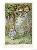 Cheshire Cat Giclée premium par John Tenniel