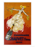 Poster for Chauvet Champagne Reproduction d'art par J. J. Stall