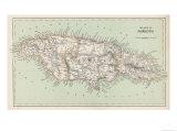 Carte de la Jamaïque Giclée