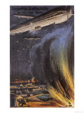 Three Zeppelins Attack British Defences on the English Coast