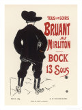 Aristide Bruant Sings at the Mirliton Paris Every Evening  and the Beer is Only 13 Sous