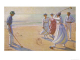 Croquet on a Sandy Beach