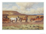 Car Meets a Carriage in the Australian Outback
