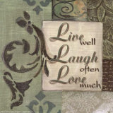 Words to Live By  Live Laugh Love