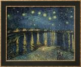 Starry Night over the Rhone, circa 1888 Reproduction encadrée par Vincent Van Gogh