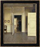 A Woman in an Interior, Strandgade 30, 1901 Reproduction encadrée par Vilhelm Hammershoi