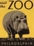 Visite du zoo de Philadelphie  Reproduction d'art