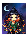 Halloween Art:  Little Candy Witch
