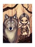 Wolf Art:  A Wolfish Friend