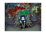 Camouflage 1 - Urban Graffiti Fairy