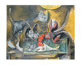 Still Life with Cat and Lobster  1962