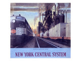 Ny Central Water Level Route Poster Giclée par Raymond Savignac